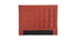 Cabecero en terciopelo terracota 160 cm HALCION