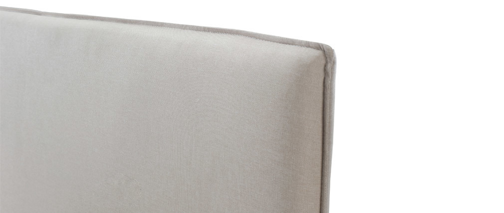 Cabecero moderno 156 cm en tejido beige ATHENA