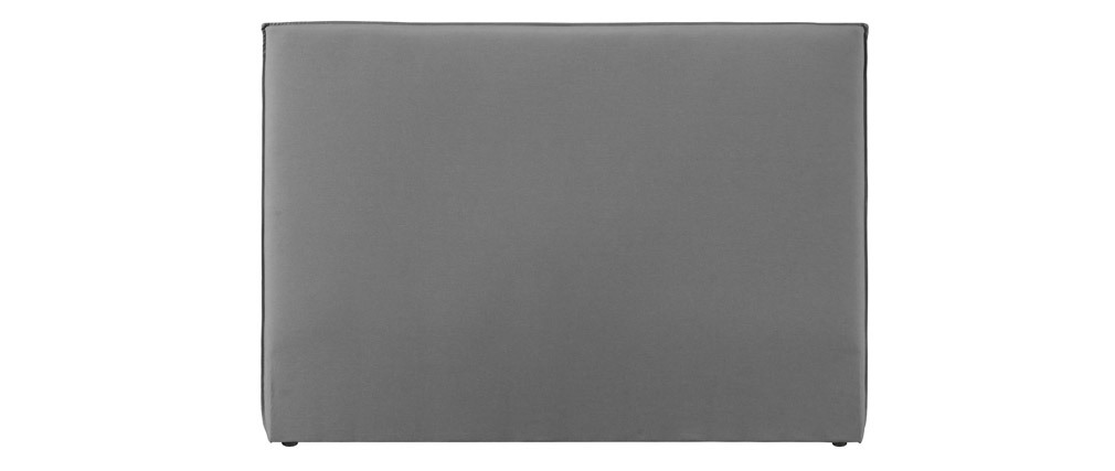 Cabecero moderno 156 cm en tejido gris claro ATHENA