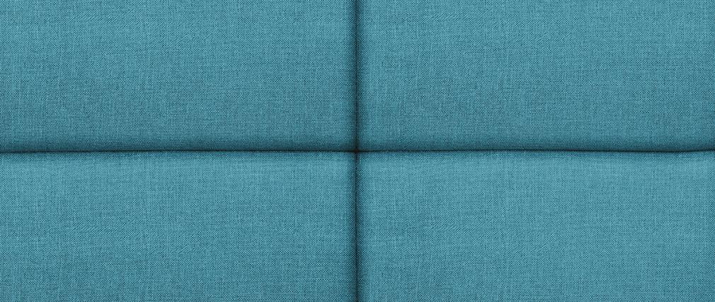 Cabecero moderno en tejido azul petróleo 140 cm ANATOLE