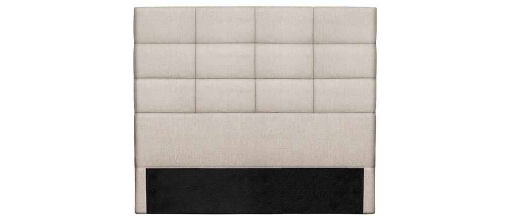 Cabecero moderno en tejido beige natural 140 cm ANATOLE