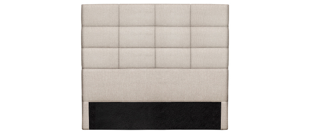 Cabecero moderno en tejido beige natural 160 cm ANATOLE