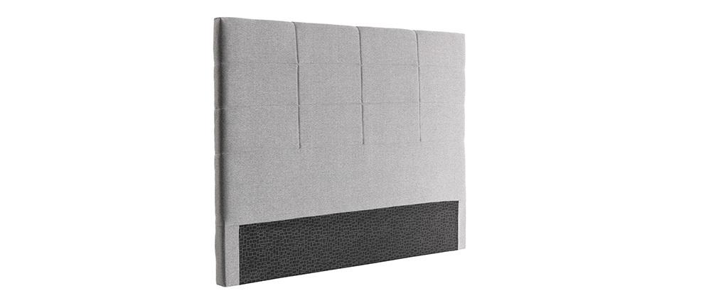 Cabecero moderno en tejido gris 140 cm ANATOLE