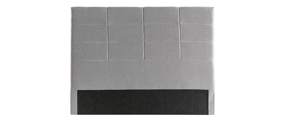 Cabecero moderno en tejido gris 160 cm ANATOLE