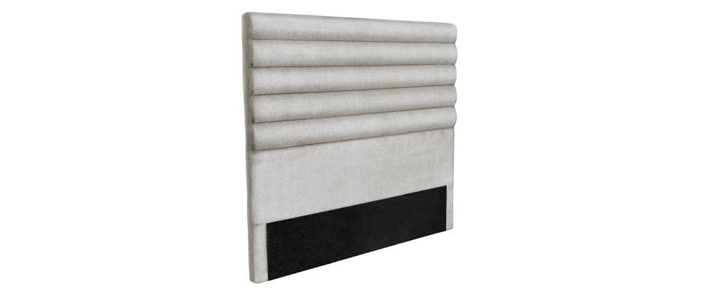 Cabecero moderno en tejido gris claro 160 cm HORIZON
