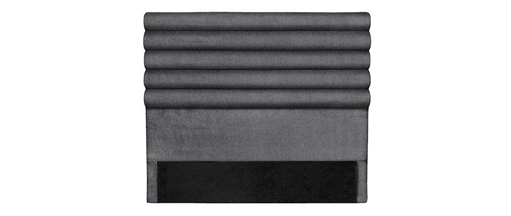 Cabecero moderno en tejido gris oscuro 160 cm HORIZON