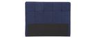 Cabecero tejido azul oscuro 160cm CLOVIS