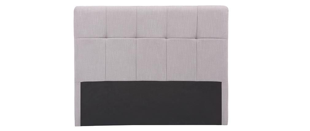 Cabecero tejido gris claro 140cm CLOVIS
