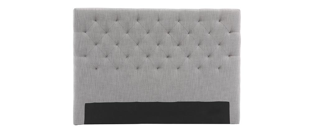 Cabecero tejido gris claro 140cm ENGUERRAND