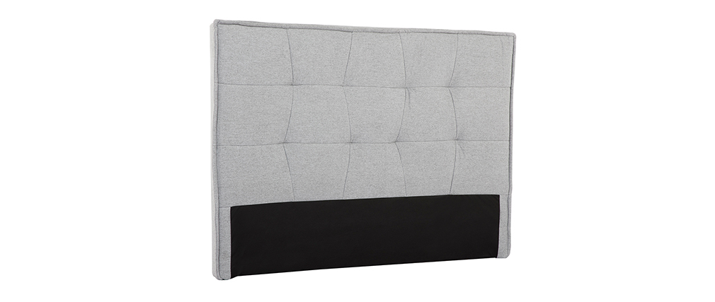 Cabecero tejido gris claro 150 cm SUKA