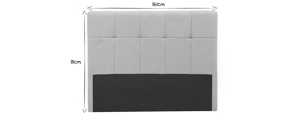 Cabecero tejido gris claro 160cm CLOVIS