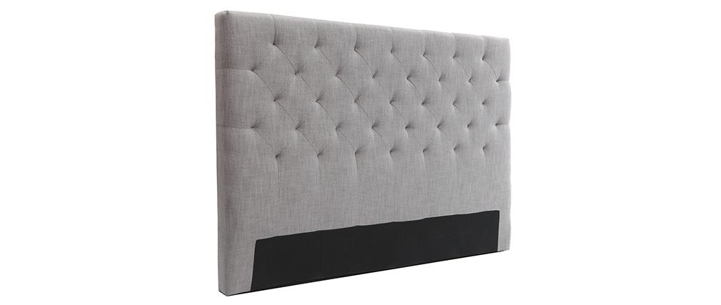 Cabecero tejido gris claro 160cm ENGUERRAND