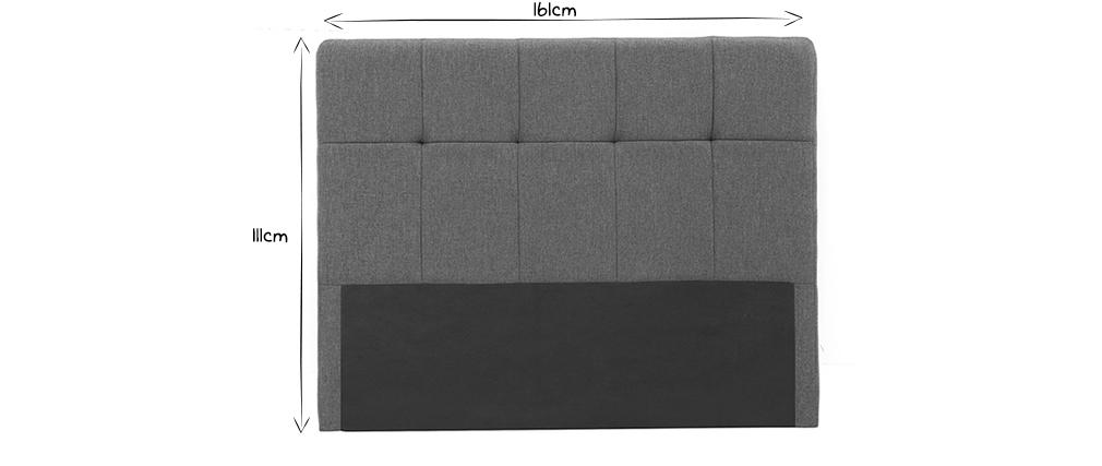Cabecero tejido gris oscuro 160cm CLOVIS