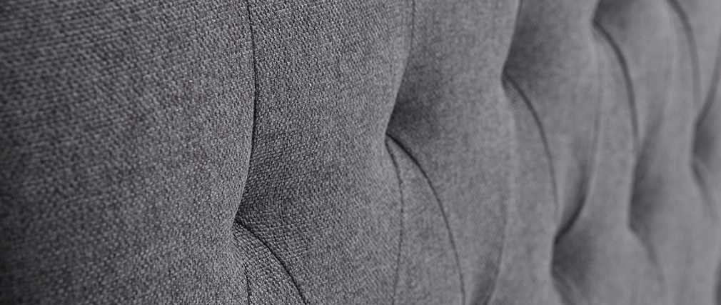 Cabecero tejido gris oscuro 160cm LOUIS