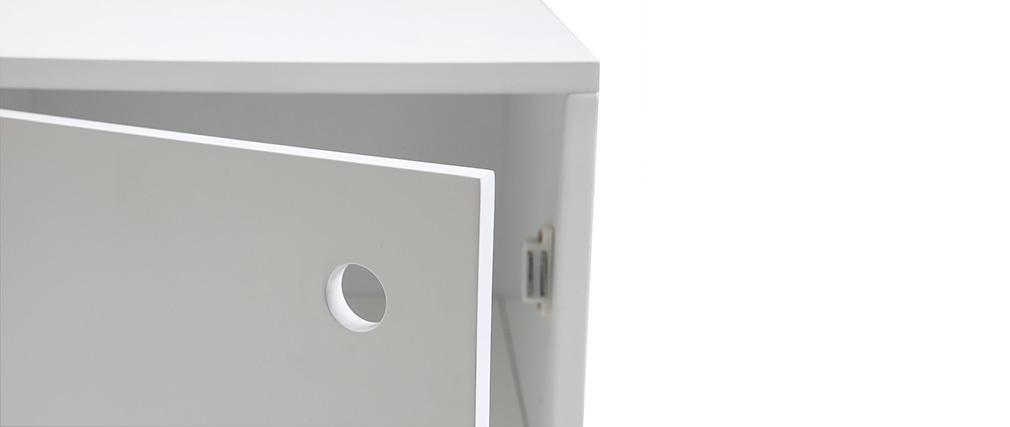 Cajón de almacenamiento lacado blanco mate STOKA