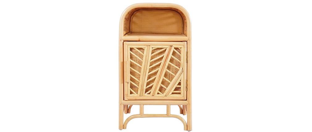 Cajón de escritorio 1 puerta en ratán GALON