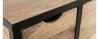 Cajonera / zapatero industrial de madera maciza y metal ATELIER