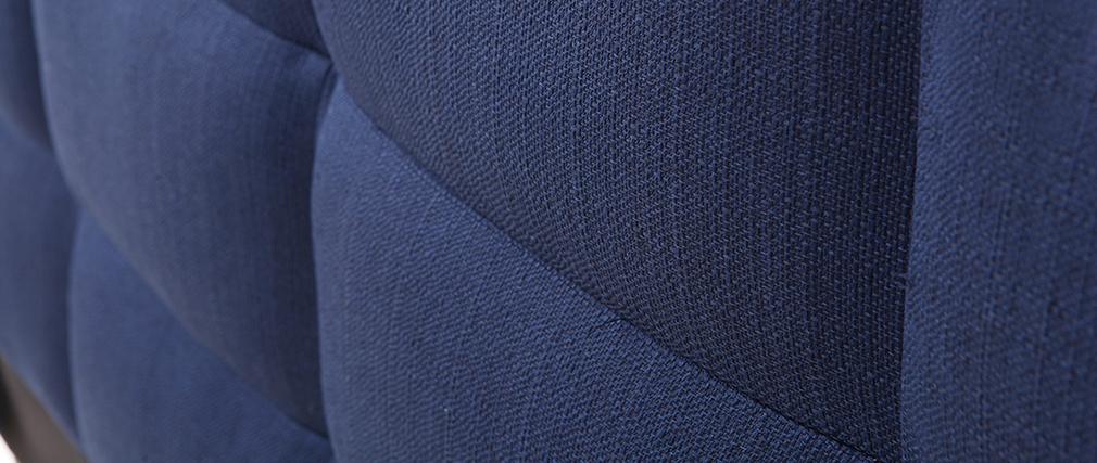 Cama adulto 160x200 cm azul oscuro EMERY