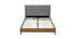 Cama adulto escandinavo madera y tejido gris 140 x 200cm LYNN