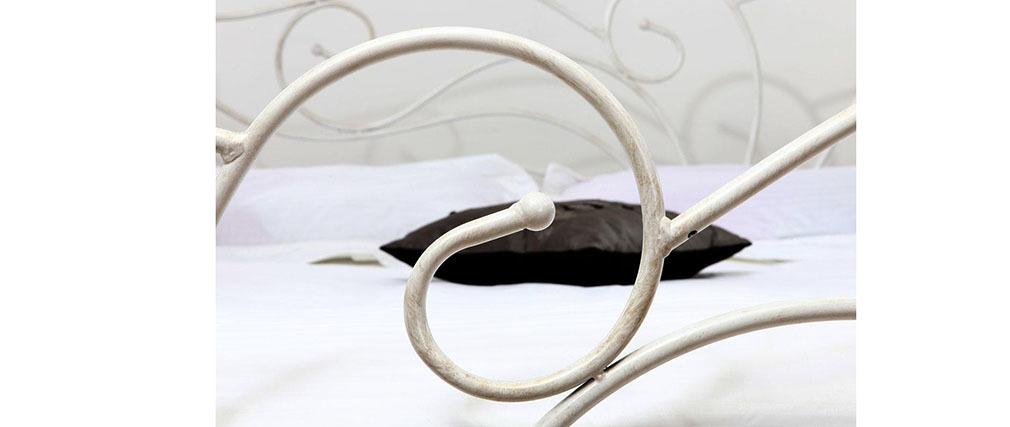 Cama barroca blanca 160x200 VENEZIA