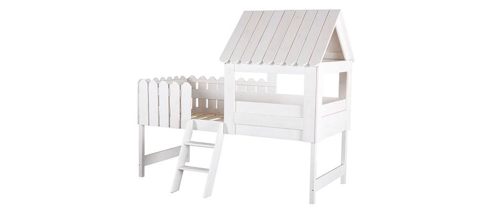 Cama cabaña infantil blanca LITTLE HOUSE