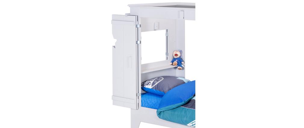 Cama cabaña infantil gris HOME