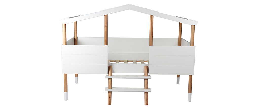 Cama cabaña infantil y somier infantil 90x190cm PILOTI