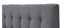 Cama capitoné tejido gris y madera 140x200 SOREN
