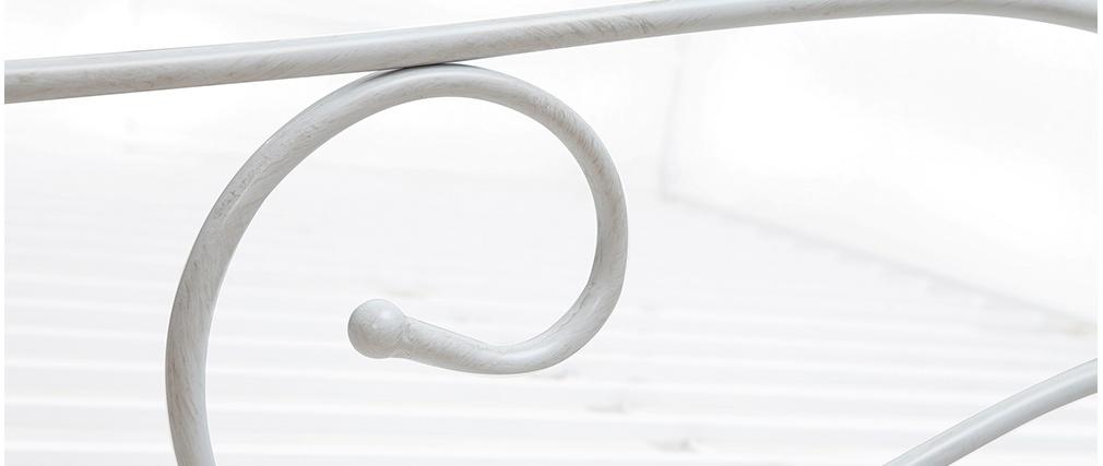 Cama con dosel blanca matrimonial 140x190 VENEZIA