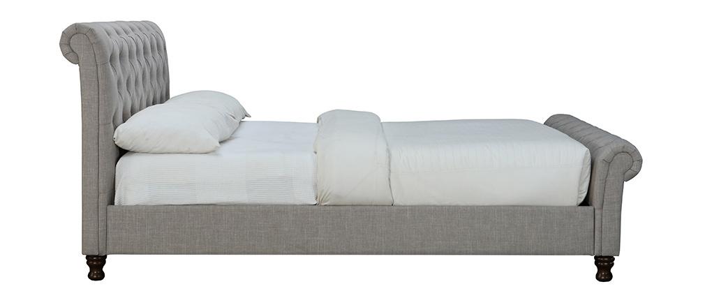 Cama doble 160*200 lino gris RILEY