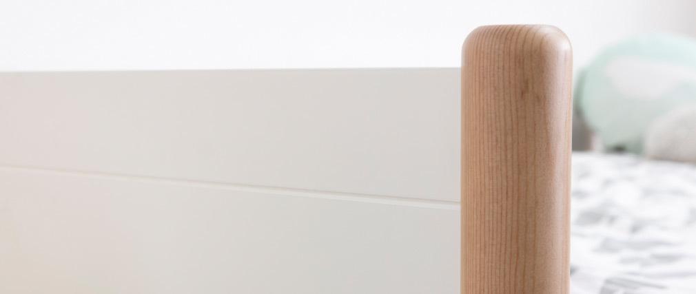 Cama nido blanco y madera 90 cm SIAMOI