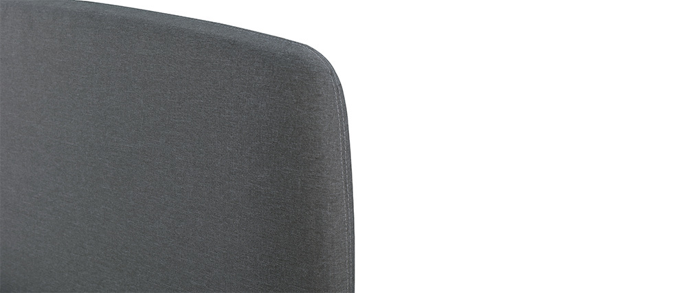 Cama nórdica tejido gris y madera 160 x 200 NIELS