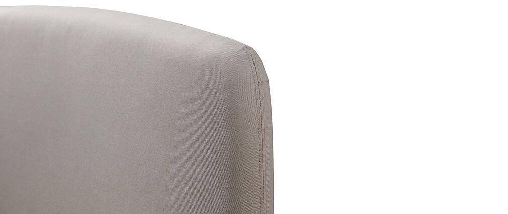 Cama tejido gris y madera 140 x 190 NIELS