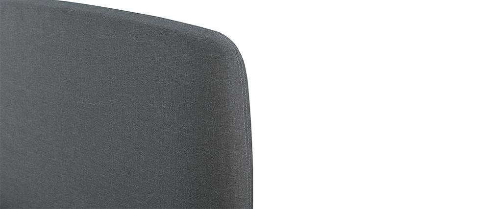 Cama tejido gris y madera 140 x 200 NIELS