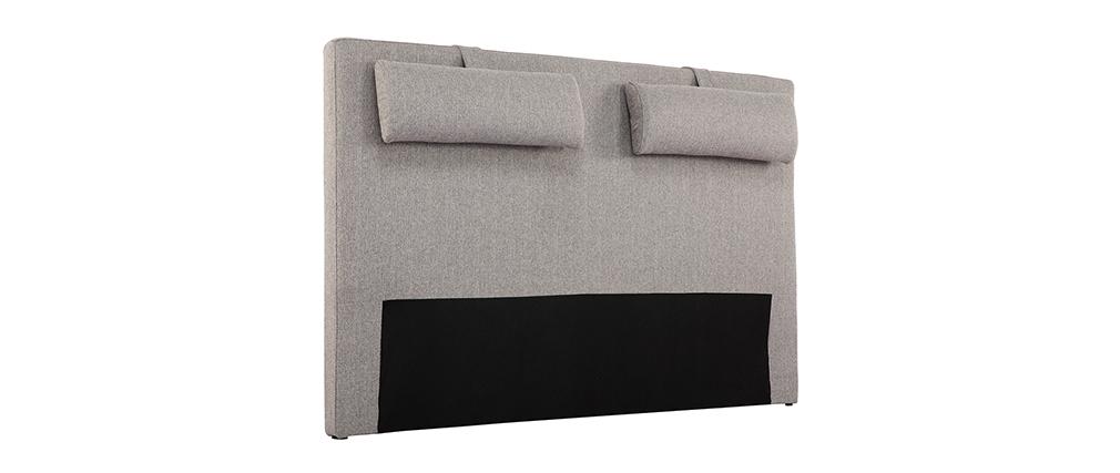 Cebecero en tejido gris claro LORRY