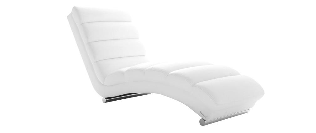 Chaise Longue de diseño blanca TAYLOR