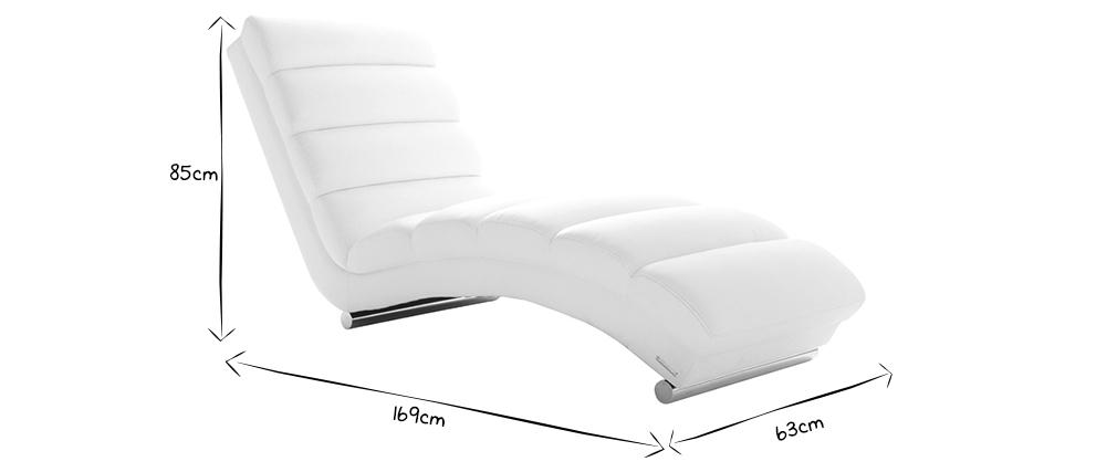 Chaise Longue de diseño grisTAYLOR