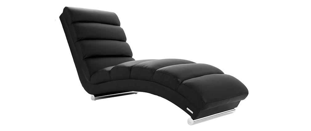 Chaise Longue de diseño negra TAYLOR