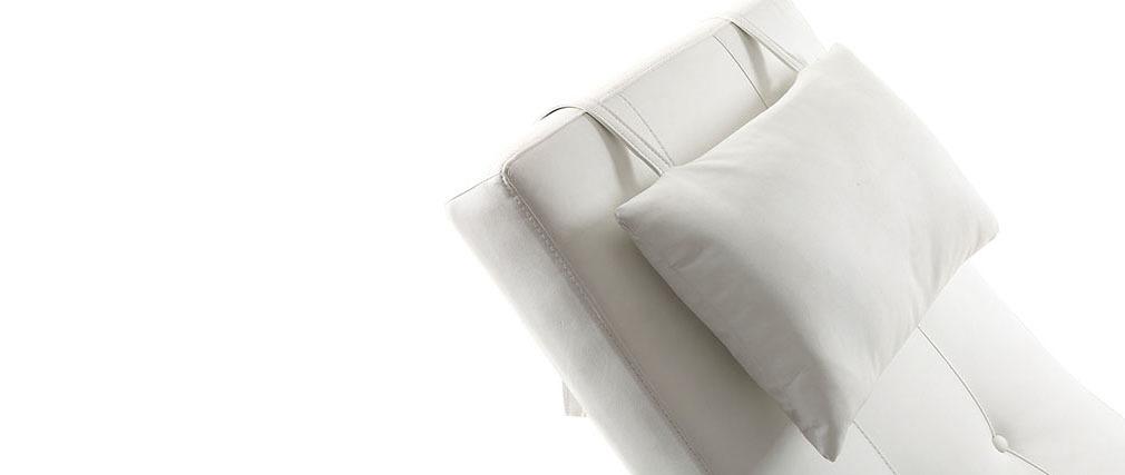 Chaise longue diseño blanco MONACO