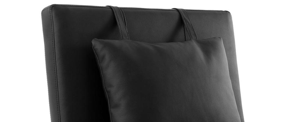 Chaise longue diseño negro MONACO