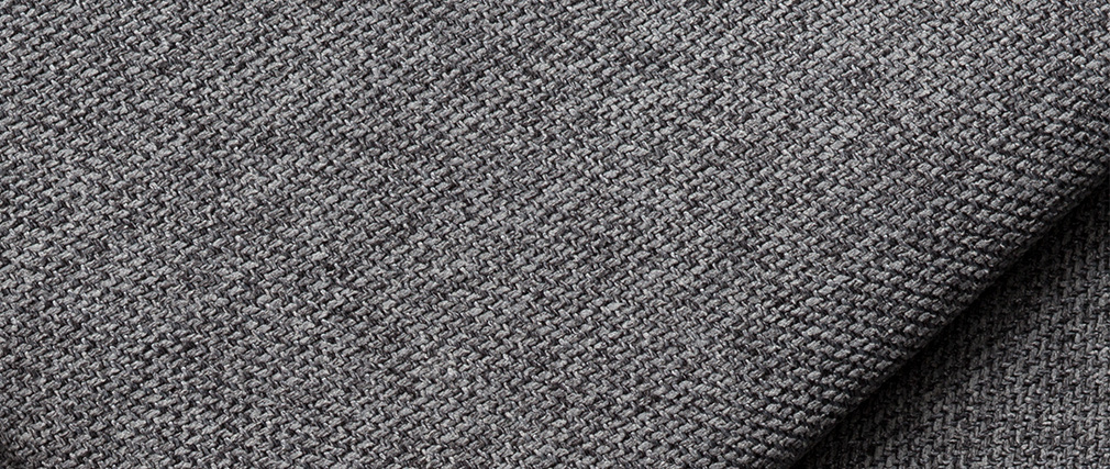 Chaise longue esquina derecha en tejido gris antracita PLURIEL