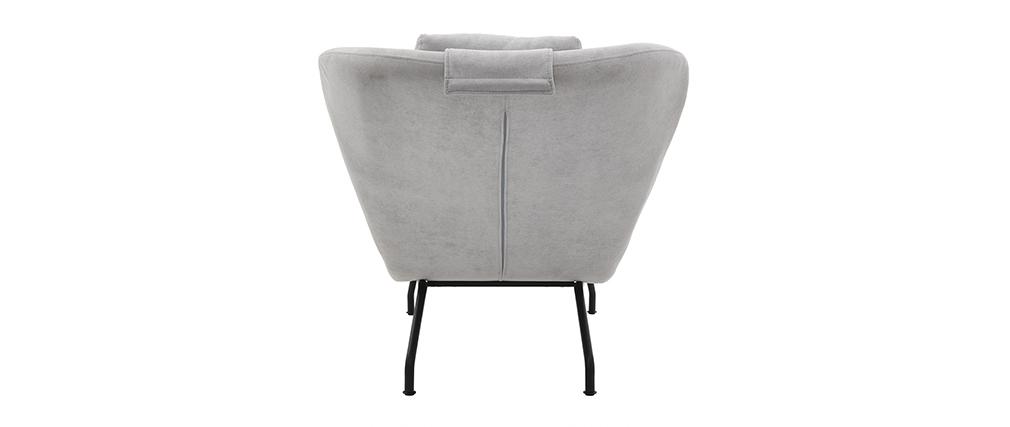 Chaise longue moderna terciopelo gris claro FLOW