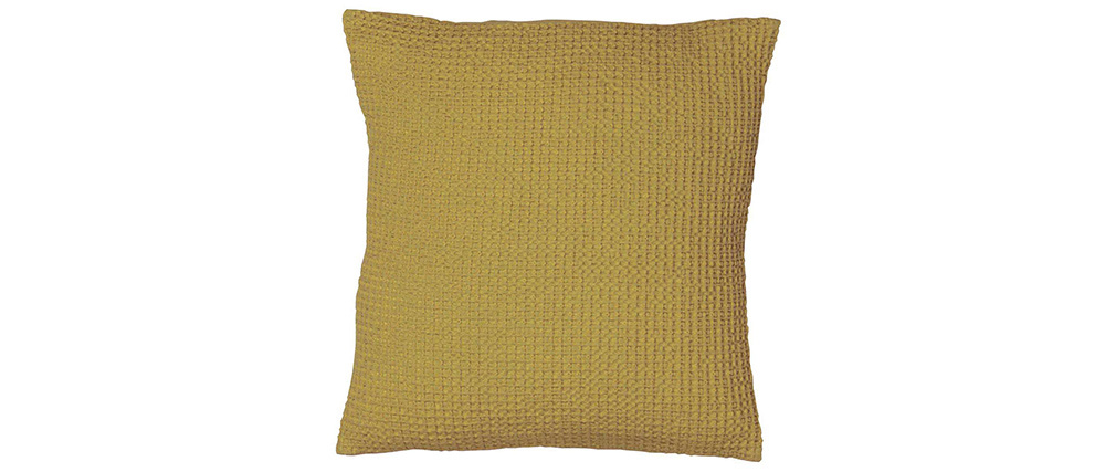 Cojín en algodón anís 45 x 45 cm YAM