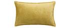 Cojín en terciopelo amarillo curry 30 x 50 cm ALOU