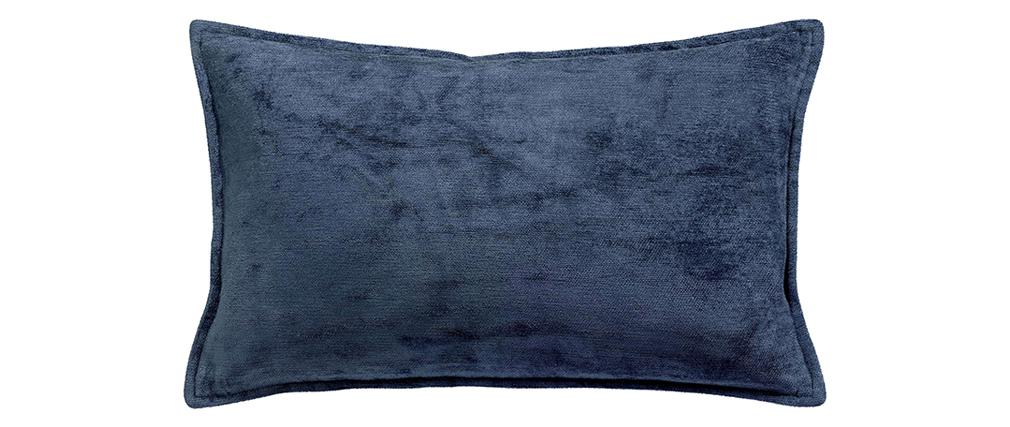 Cojín en terciopelo azul 30 x 50 cm ALOU