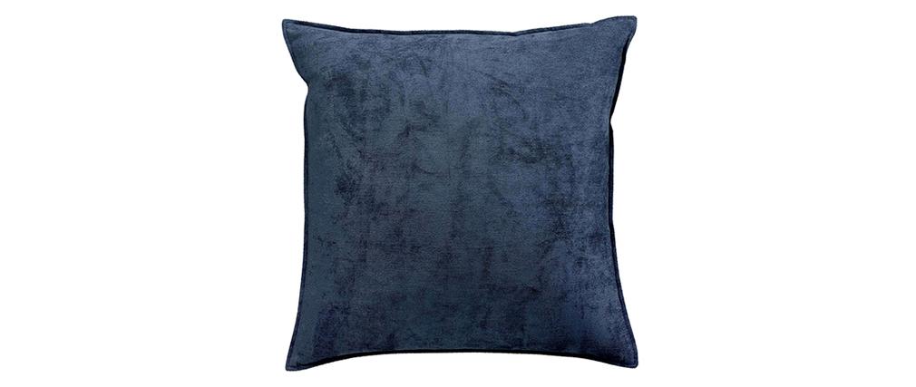 Cojín en terciopelo azul 45 x 45 cm ALOU