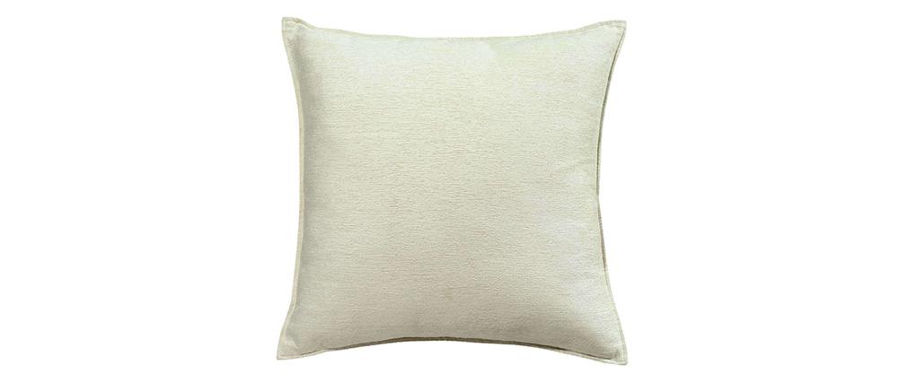 Cojín en terciopelo blanco 60 x 60 cm ALOU