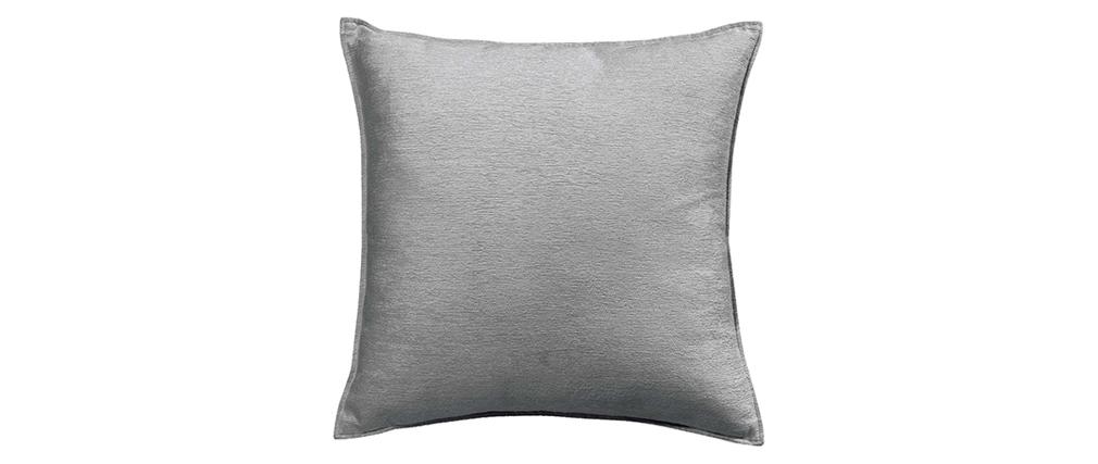 Cojín en terciopelo gris 45 x 45 cm ALOU