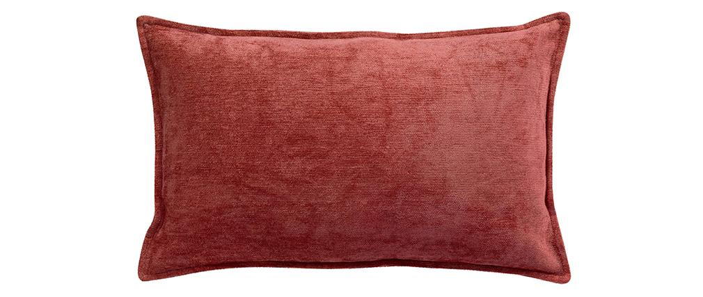 Cojín en terciopelo rojo 30 x 50 cm ALOU