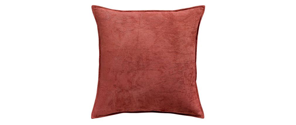 Cojín en terciopelo rojo 60 x 60 cm ALOU